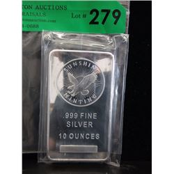 10 Oz. Sunshine Minting .999 Silver Bar