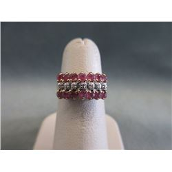 10KT Gold Ruby & Diamond Ladies Ring