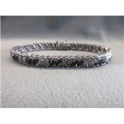 S-Wave Link Diamond Tennis Bracelet