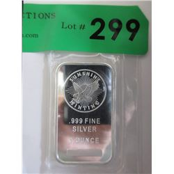 1 Oz. Sunshine Minting .999 Silver Bar
