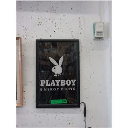 Illuminated Playboy Energy Drink Sign