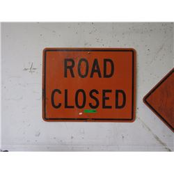 "Metal ""Road Closed"" Sign"