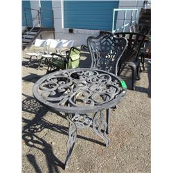 Metal Patio Chair & Table