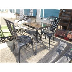 3 Piece Metal Patio Set