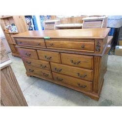 Large 9 Drawer Wood Dresser