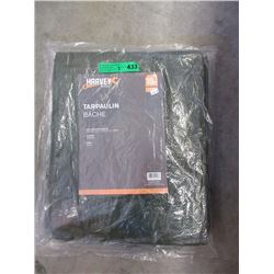 Two 10 Foot x 15 Foot Waterproof Tarps