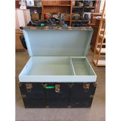 Large Metal Clad Storage Trunk