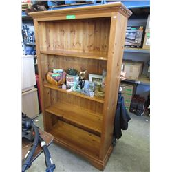 Solid Pine Book Shelf