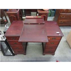 1940s Mahogany Knee Hole Desk