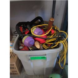 Tote of Tools & Electrical Cords