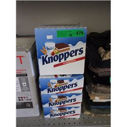 10 Boxes of Knoppers Chocolate Wafer Snacks