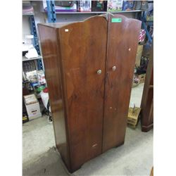 1940s Walnut Fitted Mini Wardrobe