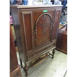 1920s Walnut Court Cupboard