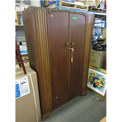 1920s Double Door Oak Wardrobe