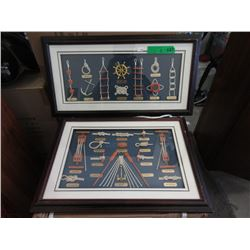 2 Framed Knot Displays