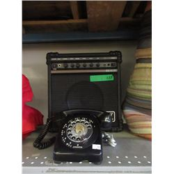 Ross Amplifier & Vintage Dial Telephone