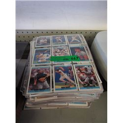 60+ Sheets of Baseball Trading Cards