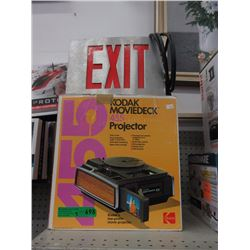 Kodak 455 Projector & Metal Exit Sign