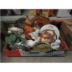 Box Lot of Household Decoratives