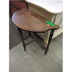 Wood Half Moon Table