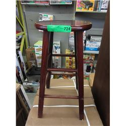 "24"" Tall Wood Stool"