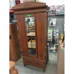 Art Nouveau Oak Wardrobe 1890-1910