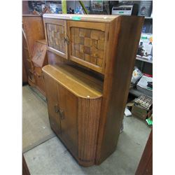 Art Deco Oak Court Cupboard 1925-1930