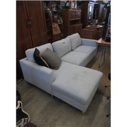 Condo Size Upholstered Sectional with Chaise End