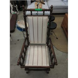 Turned Wood Rocking Chair