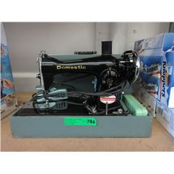 Vintage Domestic Sewing Machine in Case