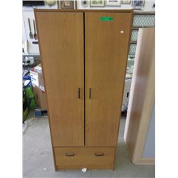 Wardrobe Cabinet with Doors & Drawer Storage