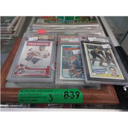 3 Graded Hockey Cards - Grades 9 to 10