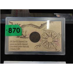 1809  Shipwreck Coin from the Admiral Gardner