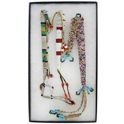 3 Beaded Awl Cases