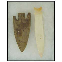 2 Stone Spear Points