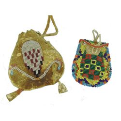 2 Beaded Pouches