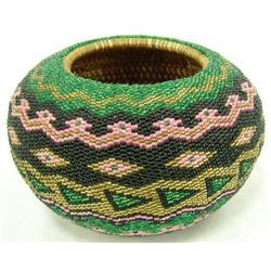 Fully Beaded Basket