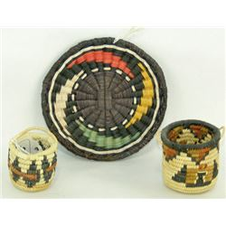Three Miniature Hopi Baskets