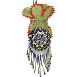 Antique Beaded Pouch