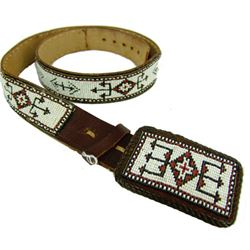 Beaded Buckle & Belt