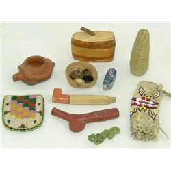 Box Lot of Misc. Indian Items