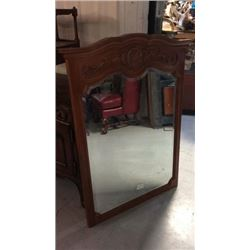 Large 34''w X 51''t Beveled Mirror In Wood Frame