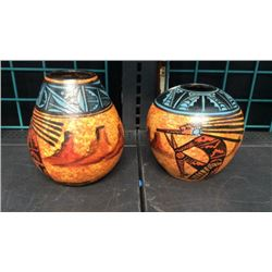 2pc Signed Pottery