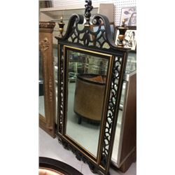 Large 31''w X 63''t Mirror In Black And Gold Frame