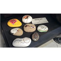 7pc Collection Of Rock Art By Mato Sicha Sioux