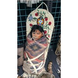 Cradle Board And Doll