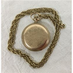 Ladies Gold Filled Pendant Watch
