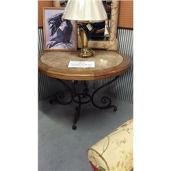 Century Marble Inlay Entry Way Table