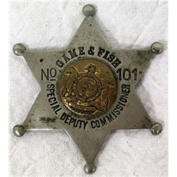 Game & Fish #101 Special Deputy Badge