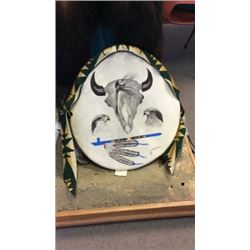 Rawhide Shield By Issac Lionshows Crow Nation